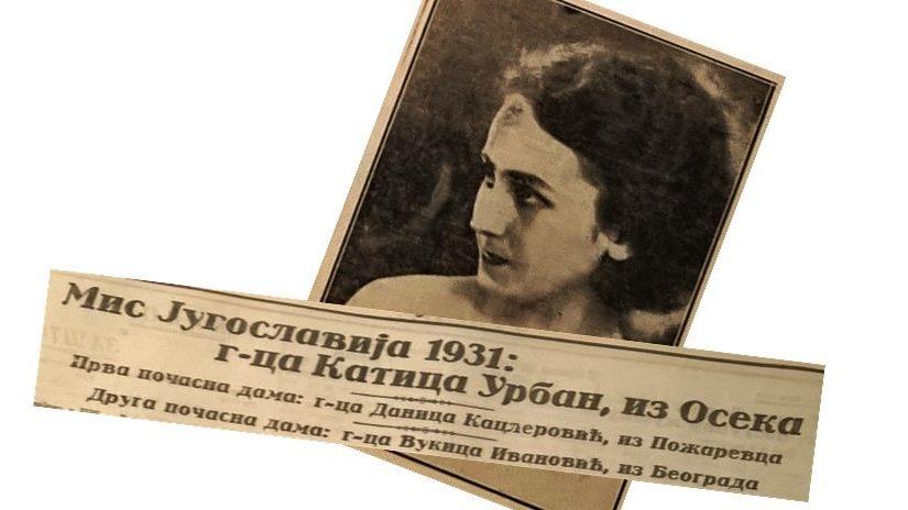 Katarina Urban, lijepa Osječanka